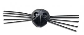 Neus met snorharen zwart 21mm