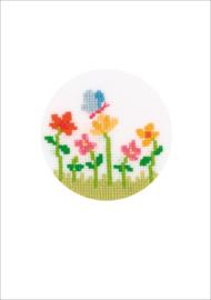 Wenskaart Geboorte Vlindertje aida 1 kaart per verpakking