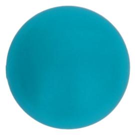 Opry Siliconen kralen 5 stuks 15mm kleur 287 Turquoise