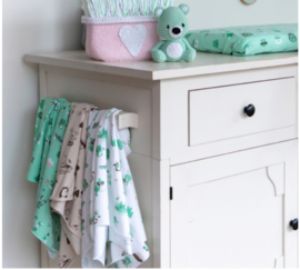 Jersey Stof Look at me - color Mint DenDennis