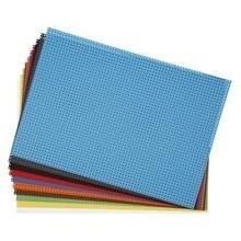 Gekleurde borduurkaarten, kruisteken karton