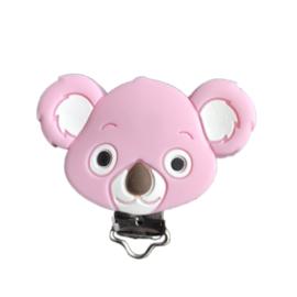 Siliconen speenclip Koala - Roze