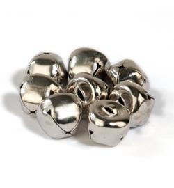Belletjes zilverkleurig 15mm - 8 stuks - mooie kwaliteit