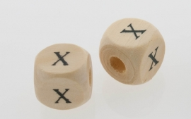 Letterkraal hout letter X