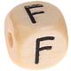 Houten Letterkraal gegraveerd 10mm  - F -