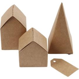 Huizen en bomen van karton