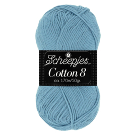Cotton 8 Scheepjes 711 Jeansblauw
