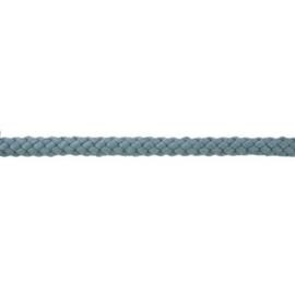 Gevlochten koord 10mm grijs blauw