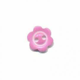 Bloemknoopje  10 mm Roze met randje glossy