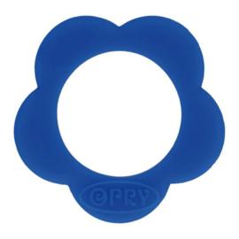 Opry siliconen Bloem bijtring  Cobalt - 215