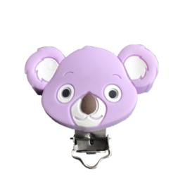 Siliconen speenclip Koala - Lila