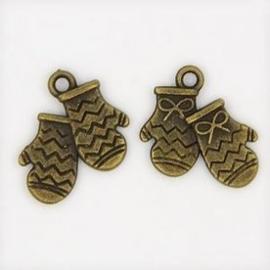 Bedel Handschoen antiek brons per stuk