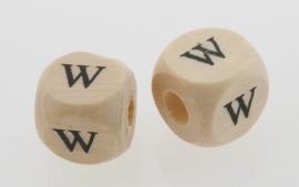 Letterkraal hout letter W