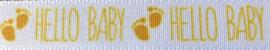Lint Hello Baby geel 15 mm