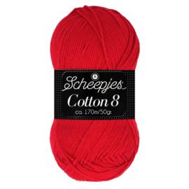 Cotton 8 Scheepjes 510 Rood