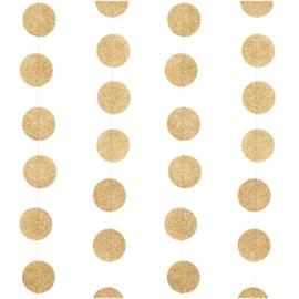 Rico guirlande met glitter cirkels  2 meter