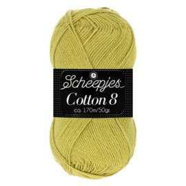 Cotton 8 Scheepjes 669 Olijf Groen