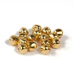 Belletjes goudkleurig 8mm - 16 stuks - mooie kwaliteit