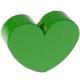Houten kraal Mini-hart groen effen ''babyproof''