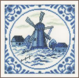 Borduurkit  Delftse windmolen
