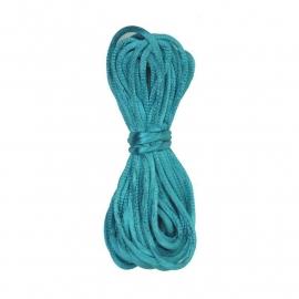 Kumihimo Satijnkoord 2mm Turquoise