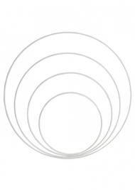 Go Handmade Metalen ringen set (4pc) kleur: White - Go Handmade