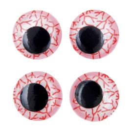 Rico fantasie wiebelogen met aders zelfklevend - 35mm 4 ogen