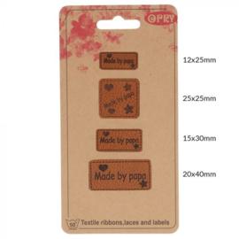 Opry Skai-leren Label Handmade by papa 4 labels