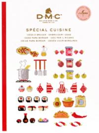 DMC Mini Borduurboekje  Spécial Cuisine (keuken) met garen