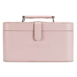 Namaste Train Case groot  30,5 x 16,5x 15,2cm  Roze - Blush