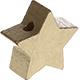 Houten kraal Mini-ster goud effen ''babyproof''