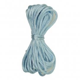Kumihimo Satijnkoord 2mm Babyblauw