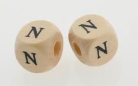 Letterkraal hout letter N