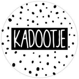 Kadosticker Kadootje wit 10 stuks