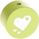 Houten kraal hart lime ''babyproof''