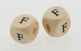 Letterkraal hout letter F