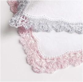 Kantgaren voor omhaken  zakdoekjes - Silber