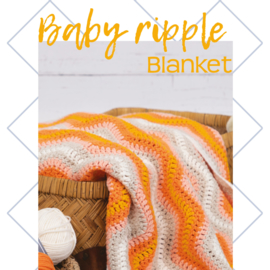 Durable Ripple Blanket Orange