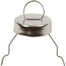 Metalen hanger d:13mm gatgrootte 5mm - zilver