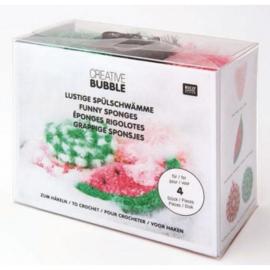 Rico grappige sponsjes pakket van bubble garen