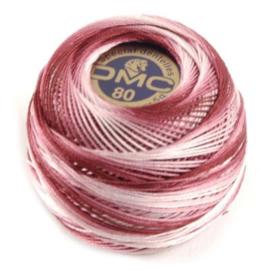 DMC 80 Dentelles haakgaren 99 roze/rood gemeleerd