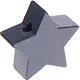 Houten kraal Mini-ster antraciet effen ''babyproof''