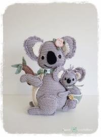 Garen en fourniturenpakket Kira Koala met haar kleine Joey   (patroon apart bestellen)
