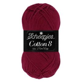 Cotton 8 Scheepjes 717 Donkerrood