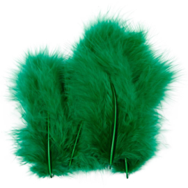 Veertjes 5-12cm ±15 stuks - Groen
