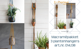 Durable Macrame pakket 3 plantenhangers in 1 pakket