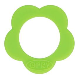 Opry siliconen Bloem bijtring  Lichtgroen - 548