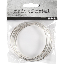Metalen ring 7,0 cm doorsnee 10 stuks