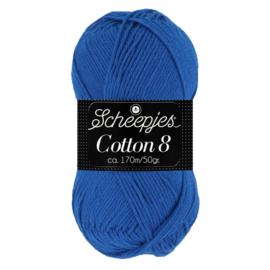Cotton 8 Scheepjes 519 Kobaltblauw
