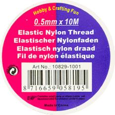 Elastisch nylon draad 0,5mm x 10meter